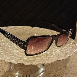Chanel sunglasses quilt Swarovski sides